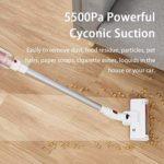 SMLZV Bâton Aspirateur sans fil, 5500Pa puissant vertical bâton d'aspiration à vide, avec batterie rechargeable, jusqu'à temps 30min de travail, for la voiture Accueil Moquette
