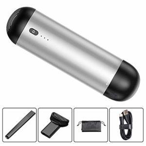 WANGSUN Aspirateur portatif Mini 4000 Pa Puissant Aspirateur sans fil Rechargeable Aspirateur humide Sec Forte aspiration Batterie 2000 mAh pour maison voiture cuisine