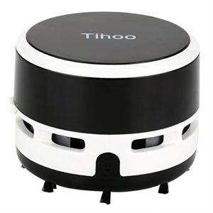 Aspirateur à main Aspirateur balai sans fil, Aspirateur de bureau Aspirateur de table Mini nettoyeur de Poudre électrique noir