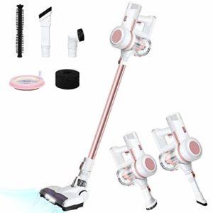 Aspirateur Balai sans Fil sans Sac, 3 en 1 Aspirateur à Main 17000Pa, Multifonctions Rechargeable Silencieux et Ultraléger