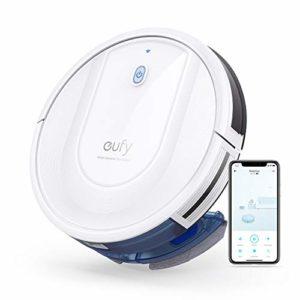 eufy by Anker RoboVac G10 Hybrid robot aspirateur+serpillière 2 en 1 avec navigation dynamique intelligente, Wi-Fi, application et compatibilité assistants intelligents, 2000Pa d'aspiration