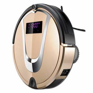 Robot aspirateur Intelligent amélioré, Mini Balai Automatique, Balayage, aspirateur robotique, Auto-Chargement, pour Poils d'animaux de Compagnie, sols durs doré