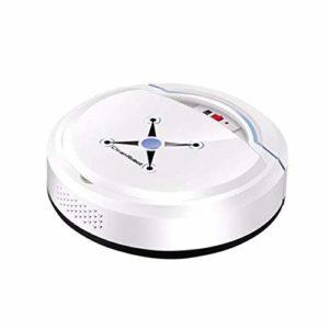 ZREAL Smart Aspirateur Robot USB Rechargeable avec Ventouse et Outil de Nettoyage Automatique White