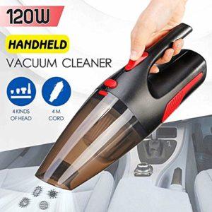Aspirateur à main, forte aspiration voiture rechargeable sans fil portable rechargeable 2200mAh humide à sec for animaux Bureau Cheveux Accueil SHIYUE
