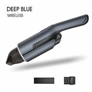 Aspirateur de voiture, portable sans fil portable 4000Pa Auto Robot Aspirateur for intérieur de voiture Nettoyage domestique Ordinateur SHIYUE (Color : Blue)