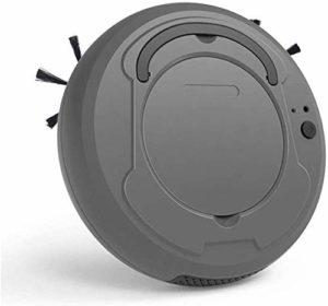 Aspirateur Robot 1800PA Robot aspirateur 360 degrés Low Noise Smart Sensor Protectio Quatre Modes de Nettoyage Aspirateur Idéal pour Les Poils d'animaux Sol Dur Moquette Moyenne Noir-Gris