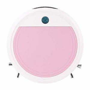 Aspirateur Robot, Chargeur USB balayeuse Intelligente, stérilisation Ultraviolet Ultra-Faible Bruit boîte à poussière Grand, Rose/Violet/Bleu,Rose