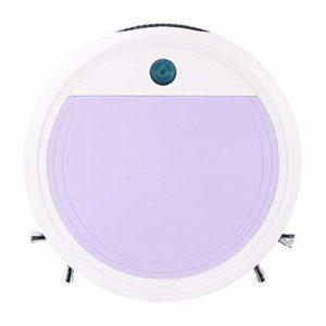 Aspirateur Robot, Chargeur USB balayeuse Intelligente, stérilisation Ultraviolet Ultra-Faible Bruit boîte à poussière Grand, Rose/Violet/Bleu,Violet