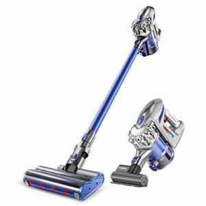 Robot Vacuum Cleane Aspirateur sans fil – Aspirateur à main sans sac léger et puissant pour tapis, revêtements de sol durs, poils d'animaux et intérieur de voiture, ventouse rechargeable au lithium-io