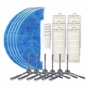 Aiweijia Filtre Brosse Principale Latérale Couvercle de Rouleau Nettoyage Tissu Remplacement pour ILIFE A4 A4S A6 Robot Vide Nettoyeur