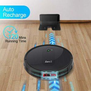 Aspirateur Robot, Connecté Wi-FI et Alexa, 1800 Pa de Puissance d'aspiration, Nettoyage Efficace sur Programmation, Aspiration Puissante sur Tapis et Sol – INSE E5