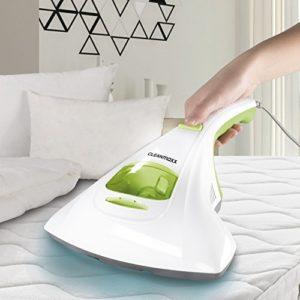 CLEANmaxx aspirateur à main anti-acariens idéal pour les personnes allergiques | nettoyeur de matelas stérilise les surfaces grâce à la lumière UV-C, détruit jusqu'à 99,9% de tous les acariens