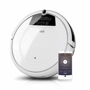 Fmart Robot Aspirateur Rechargable E-R550W(s), Balayeuse d'aspiration à balayage, Smart Scheduling Aspirateurs automatiques Robot Modes multi-nettoyants pour les animaux de compagnie,blanc(EU la norme), Cadeau de la fête des mères