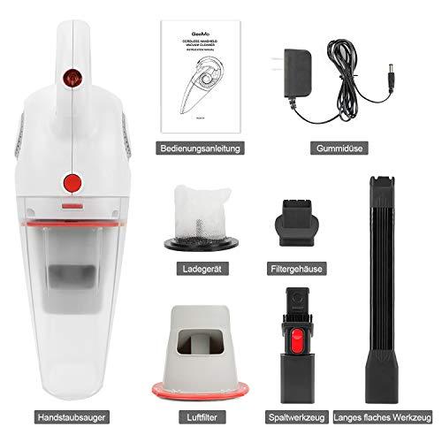 GeeMo Aspirateur voiture Aspirateur à main sans fil, sec/humide, filtre lavable, charge rapide, petite taille, poids léger, convient à la maison et à la voiture, X4