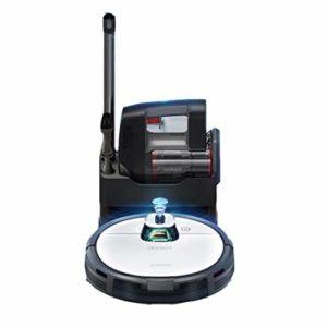 Gmjay Robot Aspirateur Intelligent Robot Aspirateur Recharge Automatique pour Salon/Cuisine/Chambre/Salle de Bain Blanc