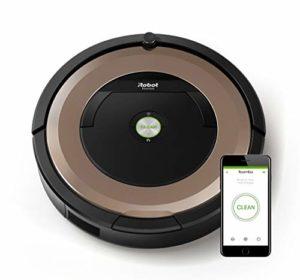 iRobot Roomba 895 Aspirateur Robot, système de nettoyage ultra puissant avec Dirt Detect, aspire tapis, moquettes et sols durs, idéal pour les poils d'animaux, connexion Wi-Fi, champagne