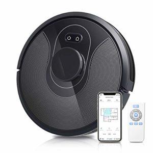 OZEANOS Aspirateur Robot 2 en 1 et Serpillère de Navigation Intelligente Connecté Wi-FI,Contrôle avec l'Application et Alexa, Recharge Automatique,pour Nettoyage de Poils d'Animaux et de Sols Durs