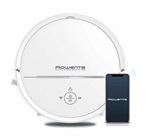 Rowenta Aspirateur Robot X-Plorer Serie 80 Laveur Autonomie 1h30 Sols Durs Tapis Filtre Allergènes Wifi Compatible Smartphone Alexa Google Assistant RR7747WH
