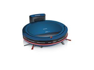 Severin RB 7028, Aspirateur Robot, Set Premium avec Station de Charge, Télécommande et Mur Virtuel Inclus, S´SPECIAL chill pro, Bleu/Rouge
