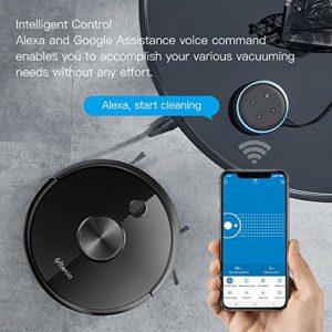 Ultenic Aspirateur Robot D5s, Connecté Wi-Fi et Alexa, Nettoyage Efficace sur Programmation, 3 en 1 Nettoyeur et Laveur, Nettoyer et Laver Simultanément, Contrôle avec Alexa & App