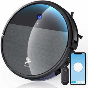 Aspirateur Robot, Hosome Robot Aspirateur Automatique WiFi-App-Alexa 2200Pa 120min Laveur de Robot Silencieux Intelligent à Chargement Auto Balayeuse Planification de Parcours