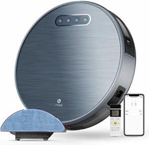 Aspirateur Robot Laveur 4500mAh 3H Durée d'autonomie Aspirateur Robotique Wifi avec 2000Pa d'aspiration, Application Alexa/Googlehome idéal pour les Poils d'Animaux et Tapis Lefant-M571