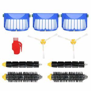 Redxiao~ Convient Parfaitement aux brosses d'aspirateur Robot en Silicone + ABS, Filtre de Robot de Balayage, 600/610/611 pour 6 séries