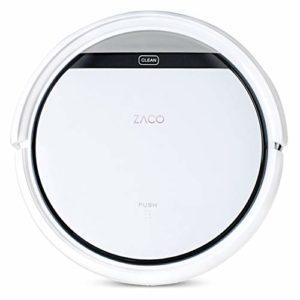 ZACO 501733 V3sPro – Aspirateur robot avec 3 modes de nettoyage – Grande force d'aspiration et capteurs intelligents – Snow White, 30x30x8, 1cm