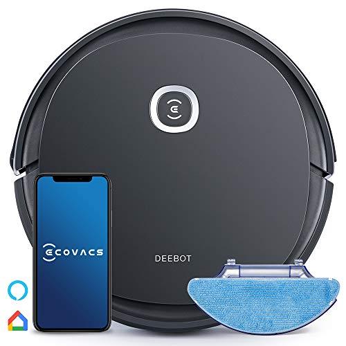 Ecovacs DEEBOT U2 Pro (Nouveau Modèle de D605), Robot aspirateur & Laveur, kit d'accessoires spécial animaux, jusqu'à 150min d'autonomie, Bac à poussière 800ml, contrôle via appli, Alexa