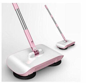 EVMM Balai Robot Aspirateur Plancher Ménage Balayeuse De Cuisine Balayeuse Balayeuse Balayeuse Poignée Magique Nettoyeur De Tapis De Ménage Aspirateur Ultra-Silencieux À Main avec,Pink