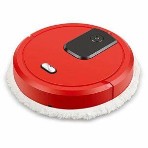 LILIS Robot aspirateur Aspirateur Robot USB de charge automatique Sweeper intelligent Balayer Robot Mopping pulvérisation et nettoyage à sec humide PLANCHERS machine (Color : Red)