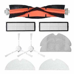 Fransande Accessoires D'Aspirateur Lavable pour Dreame F9 Robot Aspirateur Vadrouille Rouleau Brosse LatéRale Hepa Filtre Vadrouille Kits de Chiffon