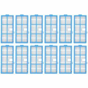 Fransande Paquet de 12 Filtres HEPA pour Aspirateur Robot Goovi 1600PA, IMartine C800 D900 D900C, DeenKee DK600, Bagotte BG600