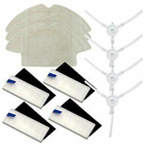 Huante Kit de pièces de rechange pour aspirateur robot 360 S6 avec brosses latérales, balai et filtre