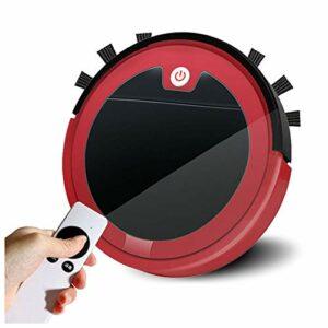 MEILINL Robot Aspirateur 3 en 1 Fonction Balai Aspirateur Et Laveur De Sol Télécommande 2.4G avec Batterie Au Lithium De 3.7 V 2000 Mah 4 Modes De Nettoyage,Rouge