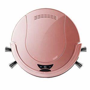 MEILINL Robot Aspirateur Laveur Slim Design 1200 Pa Aspirateur À Balai sans Fil 4 Modes De Nettoyage Silencieux avec Batterie Au Lithium De 3.7 V 2000 Mah (30 * 30 * 5.5CM),Rose