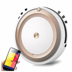 MEILINL Robot Aspirateur Laveur Slim Design 1800 Pa Aspirateur à Balai Sansfil avec App Application Batterie Au Lithium De 1500 Mah Passe sous Les Armoires Canapés Et Autres Meubles Bas