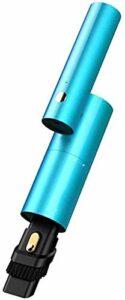 Aspirateur à main sans fil pour voiture 120 W 3500 Pa Forte aspiration Rotation de 270 degrés Tête de brosse pliable 2 en 1 Chargement USB pour Ome et nettoyage de voiture