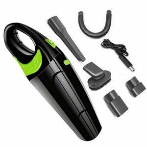 CAIJINJIN Aspirateur de robot Aspirateur à main, Aspirateur sans fil rechargeable de voiture à la main Cleaner Portable léger vide humide sec for la maison et de nettoyage de voiture, 12V 106W