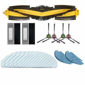 Camisin Jeu D'Accessoires de Vadrouille de Nettoyage de Filtre de Brosse LatéRale Principale pour DEEBOT OZMO T8 AIVI T8 Max T8 Robot Aspirateur