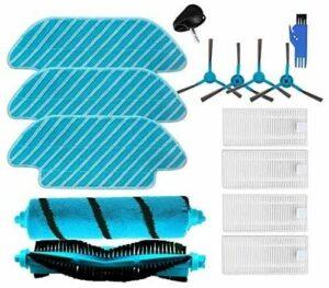 HAOKAN Accessoires ménagers Filterfor Cecotec Conga 4090 5090 Robot aspirateur avec brosse latérale et serpillères