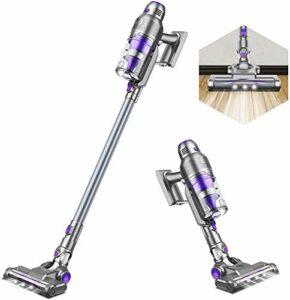 KJDSW Aspirateur sans Fil Aspirateur à Balai 3 en 1 21 Kpa Aspirateur à Main à Aspiration puissante jusqu'à 40 Minutes de Fonctionnement Lumière LED