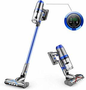 KJDSW Aspirateur sans Fil Aspirateur Balai à autonomie de 55 Minutes avec Brosse en Forme de V améliorée Aspirateur Portable 4 en 1