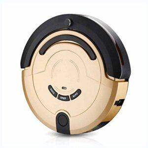 STRAW Aspirateur, Aspirateur Robot Automatique Accueil Balayer Intelligent Essuyant au Sol Un Aspirateur Robot Pas de Balayage (Couleur: Or, Taille: 32 * 32 * 8.7cm)