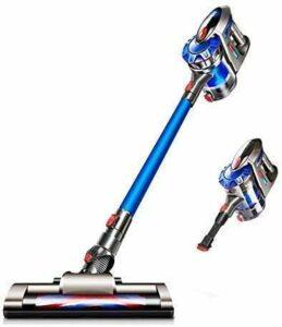 LLKK Aspirateur sans Fil La Force du ménage aspirera la Tige de poussée dépasser Le véhicule de Charge de muet,Bleu