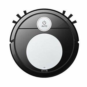 Nrpfell Robot Intelligent Aspirateur USB Robot de Nettoyage Automatique Robot Aspirateur Robots pour la Maison avec Fonction Vocale, Noir Argent