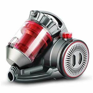 Aspirateur sans fil Aspirateur – maison multi-fonctions 1600W haute puissance petite poche horizontal aspirateur de vitesse 11 vitesses, 36.8×17.6×31.6cm balais mécaniques puissants (Couleur: Rouge) L