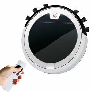 Robots aspirateurs Aspirateur Robot 2800pa 3-en-1 Nettoyeur De Tapis Multifonction Aspirateur Télécommandé pour Dépoussiéreur De Tapis À La Maison