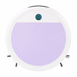 Angle-w High End 1500mAh 120min de la durée de Vie de la Batterie Longue Dure, Un aspirateur Robot Lumineux Rechargeable USB 1200Pa Aspiration imprégnable Stylish Design (Color : White Purple)