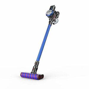 Cfiret aspirateur Main Portable 2-en-1 Aspirateur sans Fil Haute Aspiration Grande Brosse Électrique Au Sol avec La Lumière LED Accessoires Multiples aspirateur de Poche (Color : Blue)